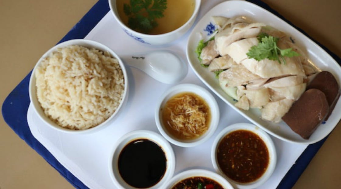 Hainanese chicken rice at Ruen Ton.