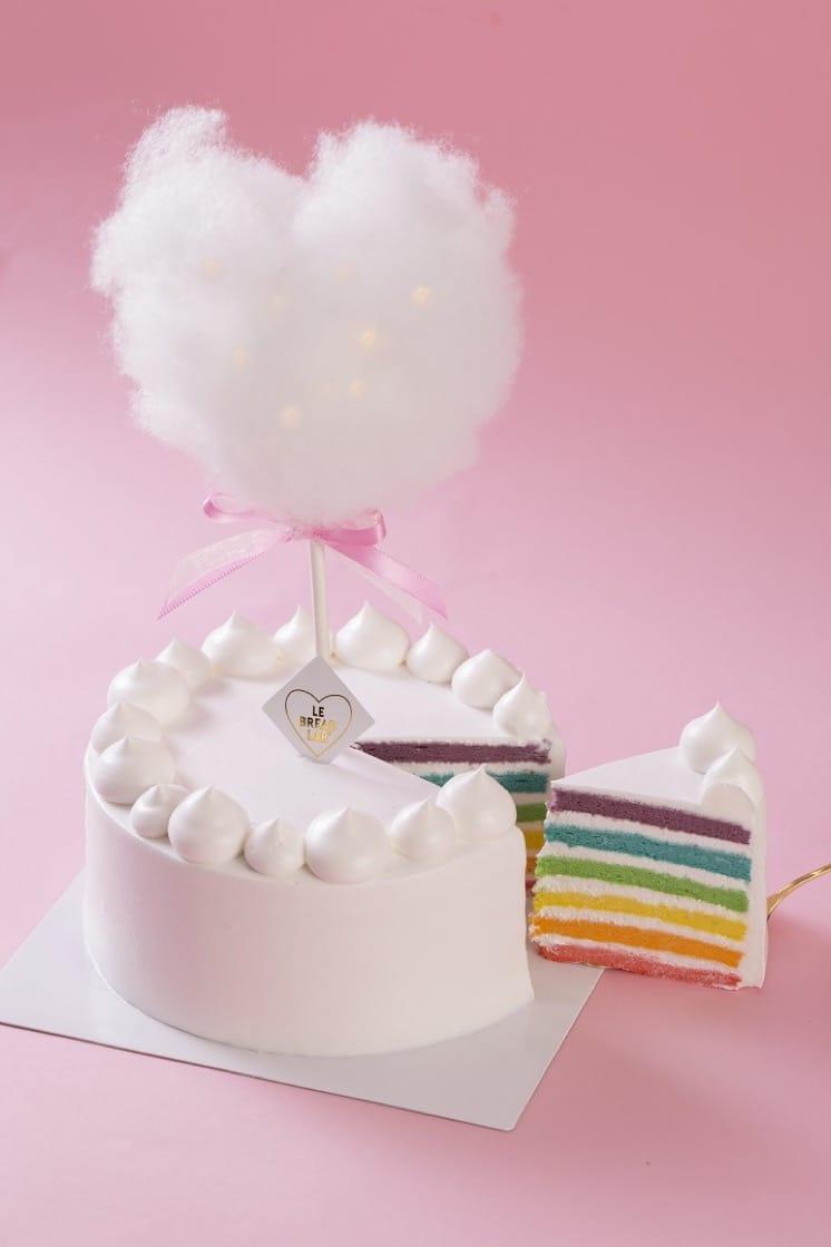 Le Bread Lab新店開幕,推出彩虹雲朵蛋糕,非常吸睛。(圖片:Le Bread Lab提供)