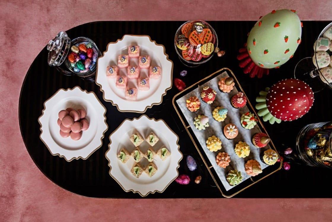 美利酒店復活節會提供精巧的牛奶朱古力花盆和檸檬忌廉芝士鳥巢等甜品。(圖片:美利酒店)
