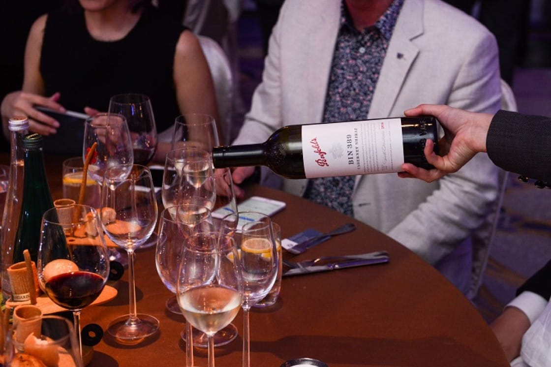 The delicious food was paired with exceptional wines by Penfolds.