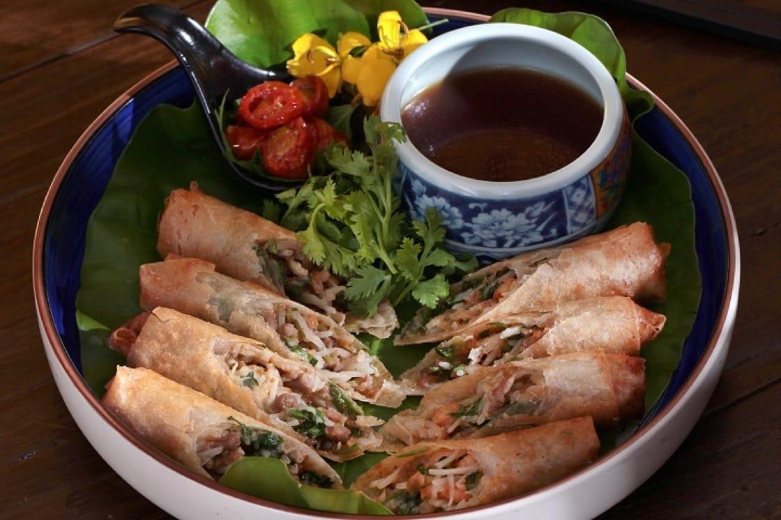 扁魚春捲是舊時宴客時讓客人能休息一下的中場菜餚。