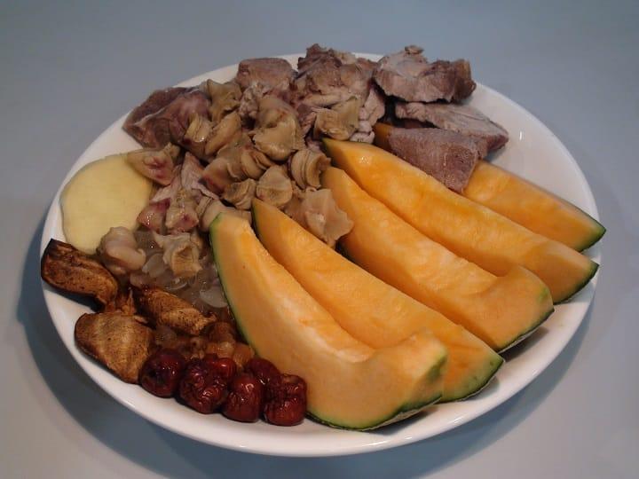 森記餐室飯館版本的爵士湯,用了響螺、豬肉排、哈密瓜、圓肉、紅棗等食材。(圖片:孟惠良)