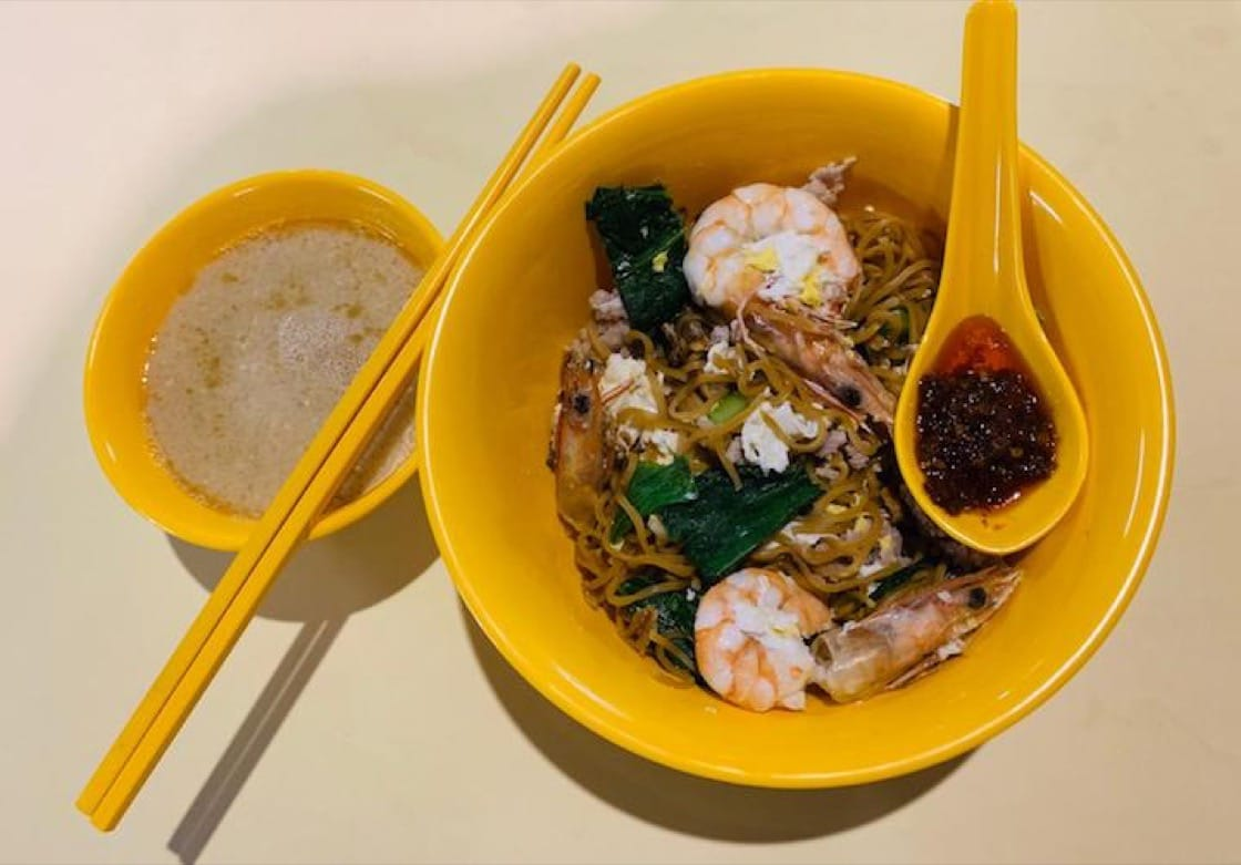 Chef Manjunath Mural loves his dry yee mee with prawns, minced pork and more chilli. (Photo courtesy of Manjunath Mural)