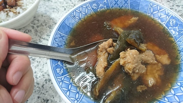 The signature comforting dish at Hsiao Wang Steamed Minced Pork With Pickles in Broth. (Pic: Hsieh Ming Ling)