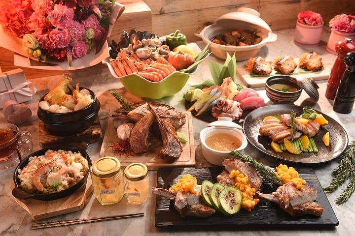 旭逸酒店的早午餐自助餐讓媽媽一次可以吃到多國菜式。(圖片:旭逸酒店提供)