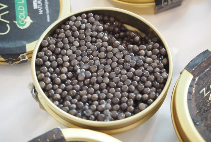 Caviar should have an attractive and shiny appearance and do not have a strong fishy or briny smell. (Photo: Kenneth Goh)