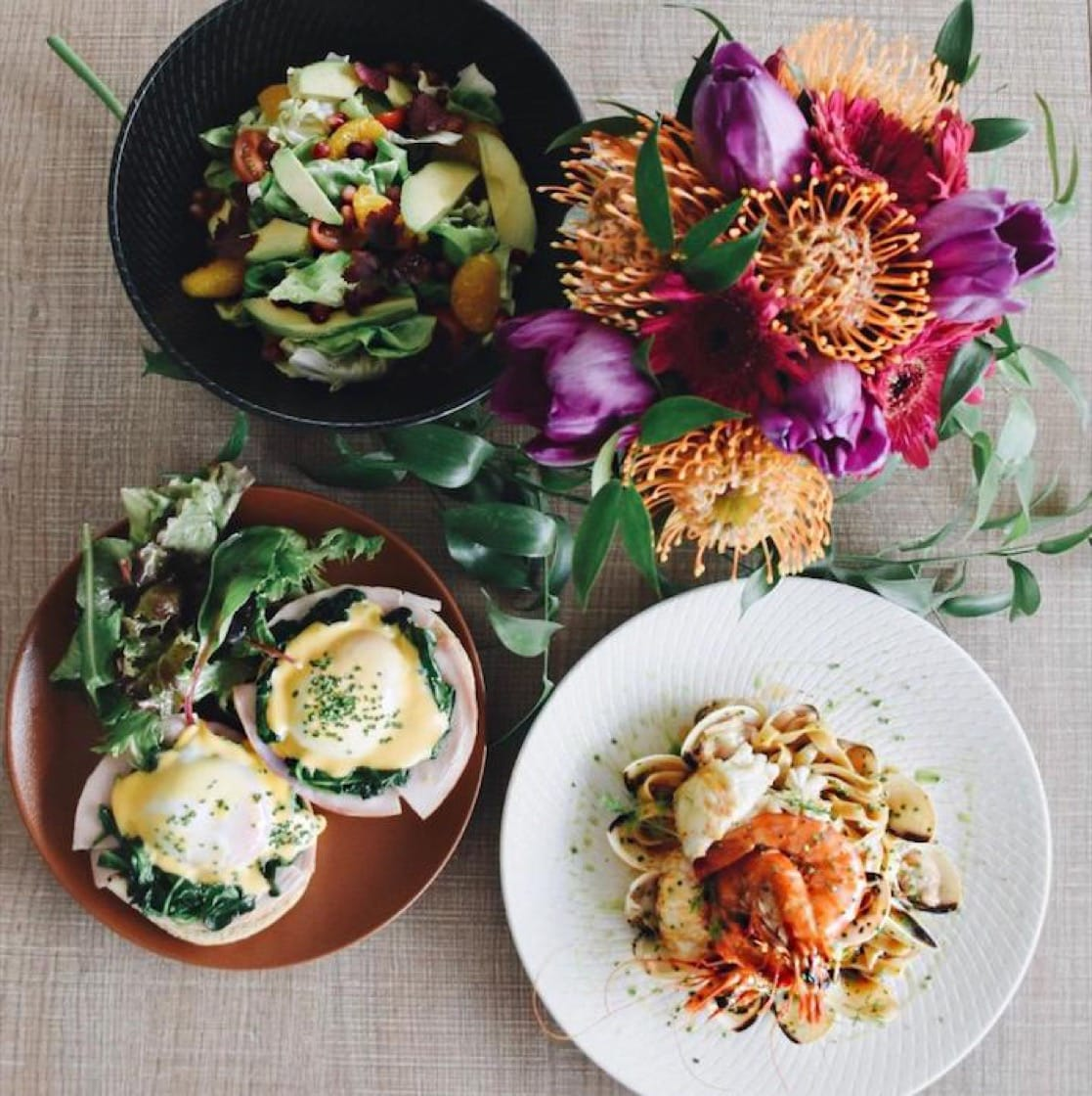 Mum can take home a pretty bouquet after brunching at The Summerhouse Dining Room. (Credit: The Summerhouse)
