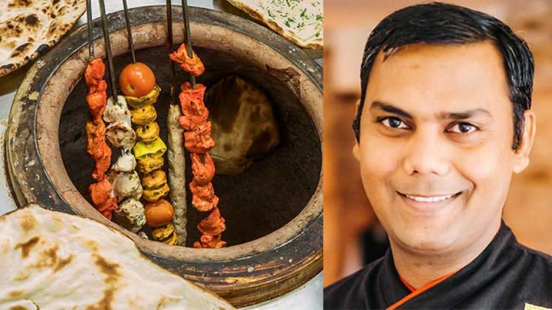 เตาทันดูร์ (เครดิตรูปภาพ: Shutterstock) และ เชฟ Amit Kumar แห่งร้านอินดัส