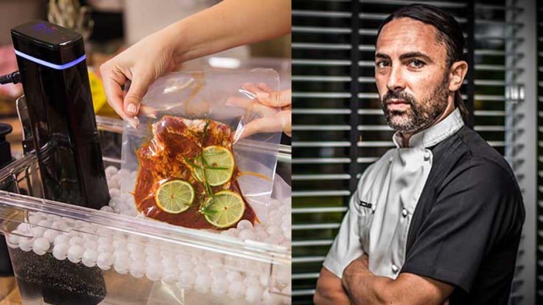 Chef Alessandro Frau of Acqua. Sous Vide Machine Photo: Shutterstock.