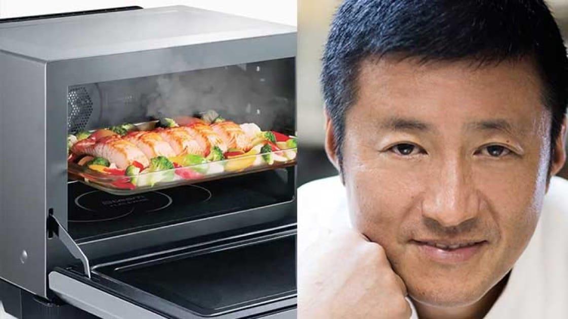 Chef Shigeru Hagiwara of Yamazato. Steam oven photo source: Panasonic.