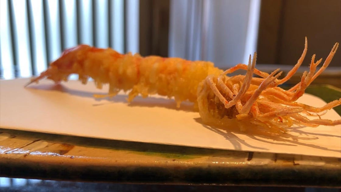 Seafood is chosen by the chef at Tempura Kanda based on the morning's freshest catch. Photo courtesy of Tempura Kanda.