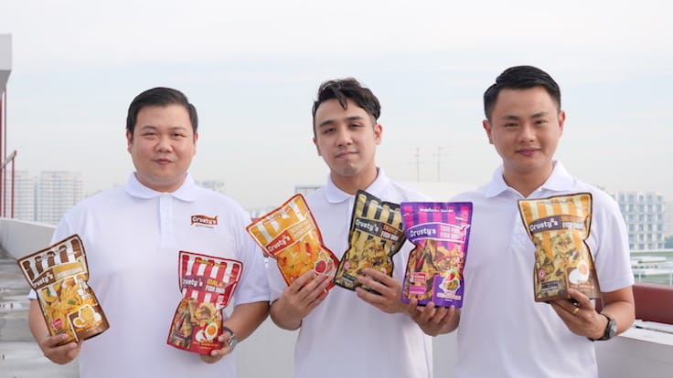 The founders of Crusty's, from left: Teo Woo Yang, Melvin Wong and Kenny Ng (Pic: MICHELIN Guide Digital)