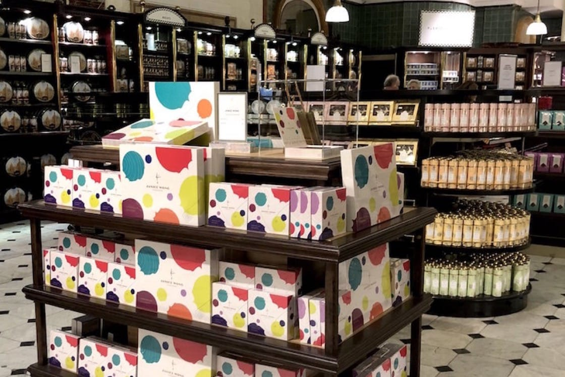 Janice Wong confectionaries at Harrods in London (Pic: Janice Wong)