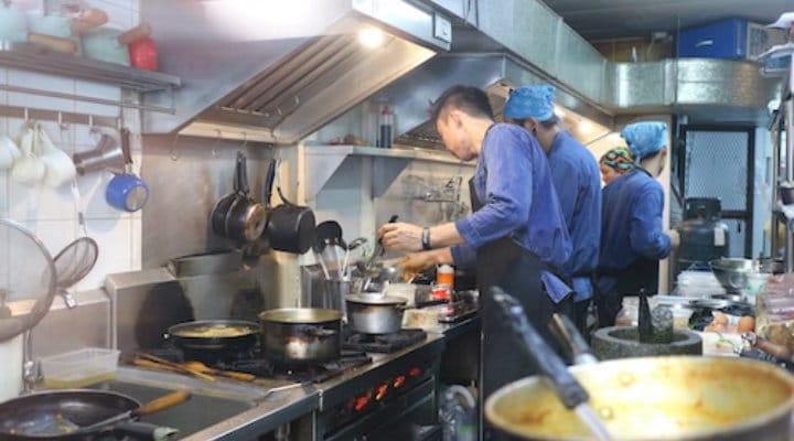 Inside Thai Niyom kitchen.