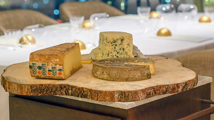Every week, the restaurant receives cheeses from Antony Bernard and Jean-Francois Anthony in France, picked to ensure that each will be at its peak once it reaches the diner's plate in Bangkok.