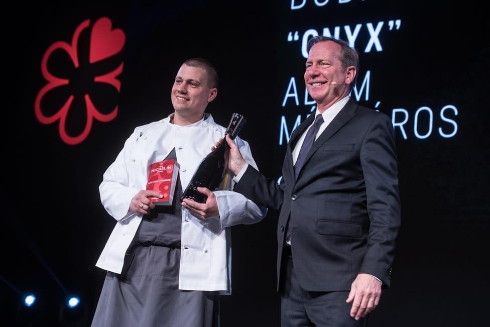 Chef Ádám Mészáros and Michael Ellis