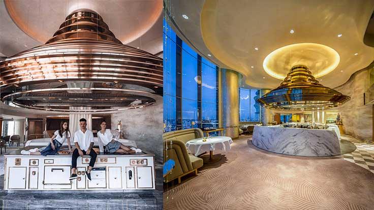บรรยากาศร้าน Chef's Table ที่สามารถมองเห็นวิวสวยๆ ของกรุงเทพฯ  (เครดิตรูปภาพ: เฟซบุ๊ก Chef's Table)
