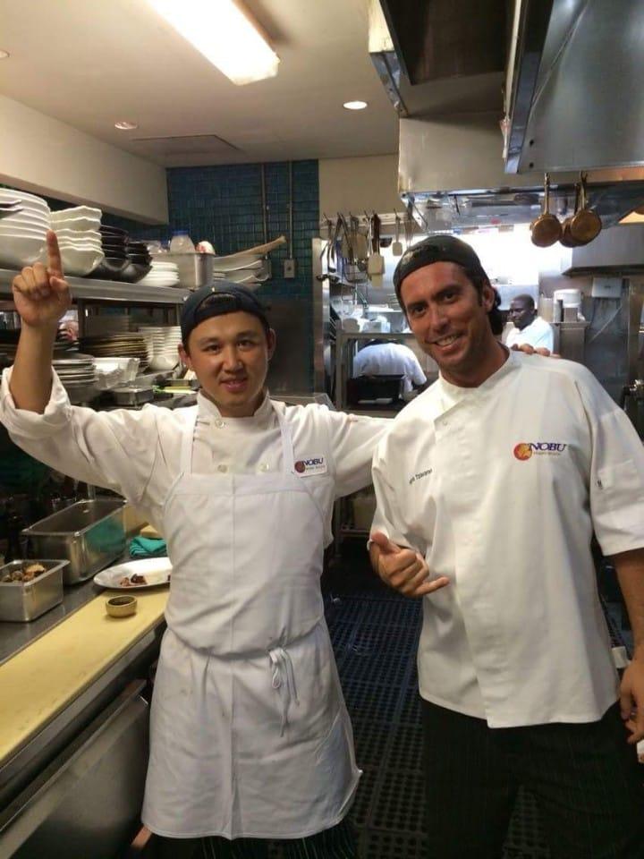 Chef Shin Chang-ho (left) at Nobu Miami