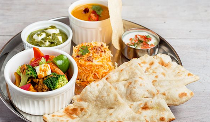 The vegetarian naan set at Zaffron Kitchen (Pic: Zaffron Kitchen)