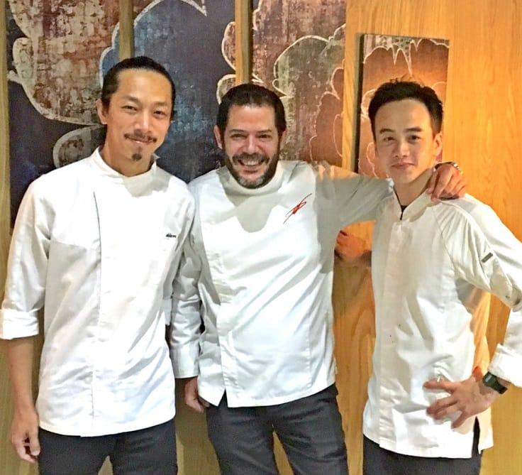 Verde 團隊。左起甜點主廚劉隆昇、行政主廚 Daniel Negreira、料理主廚王致晟。(圖片:麥立心攝)