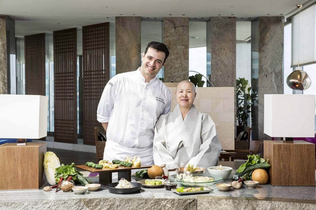 Chef Federico Heinzmann and the Venerable Sunjae