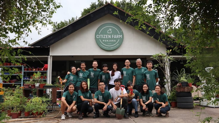 The Edible Garden City team at Citizen Farm in Jalan Penjara (Pic: Edible Garden City)