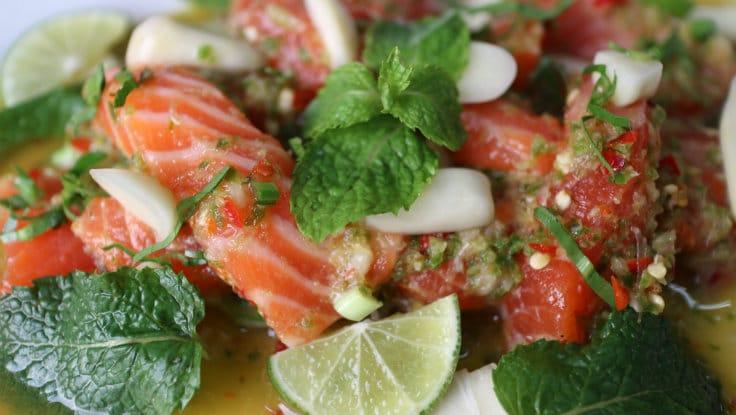 Yum salmon.