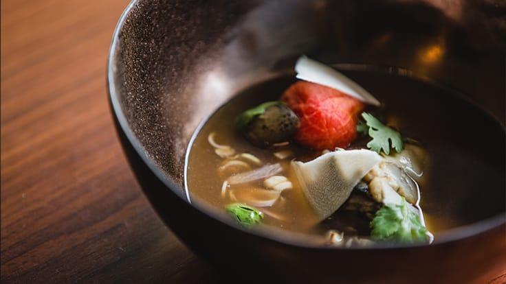 Saawaan's boiled beef soup with <i>bai ya nang</i> broth. Photo source: Saawaan's website.