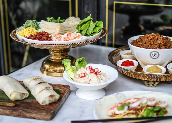 Nyonya Poh Piah Party is one of the signature dishes at Violet Oon Singapore in Jewel Changi Airport. (Photo: Violet Oon Singapore)