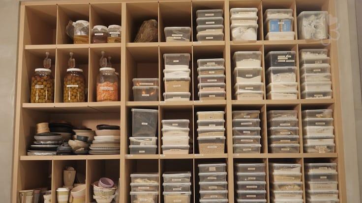 MUME studio 裡的食材庫。