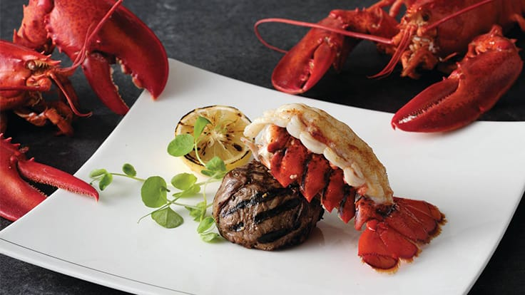 Surf & Turf. Photo source: Rib Room & Bar.