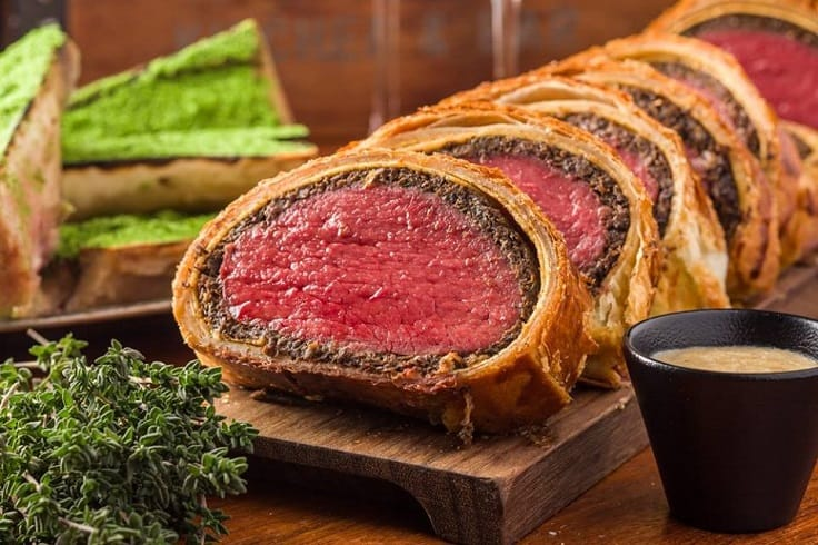 Beef Wellington is a trademark of Gordon Ramsay. (Pic: maze Grill's Facebook)