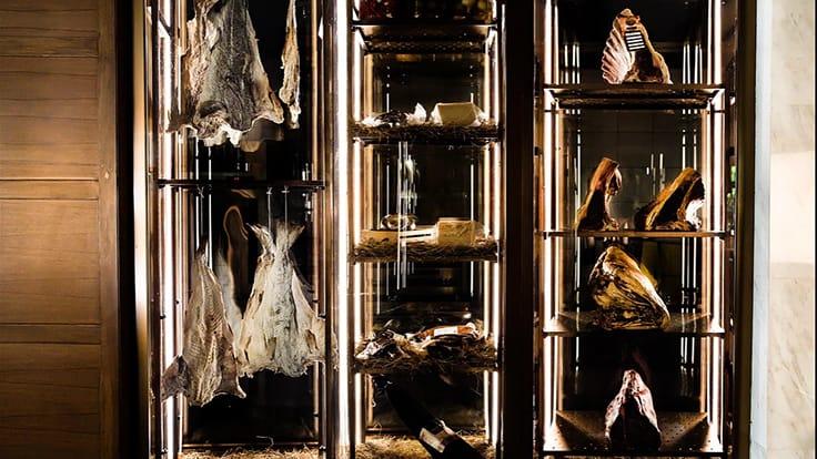 The meat fridge at Il Fumo. Photo credit: Il Fumo.