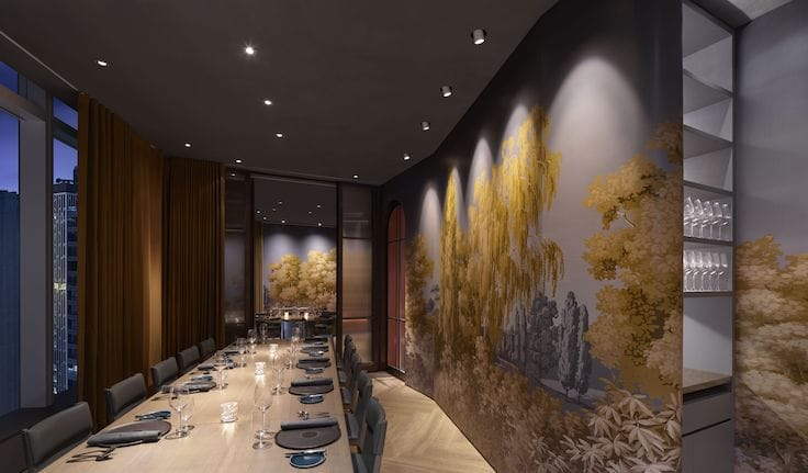 The private dining rooms at Arbor.