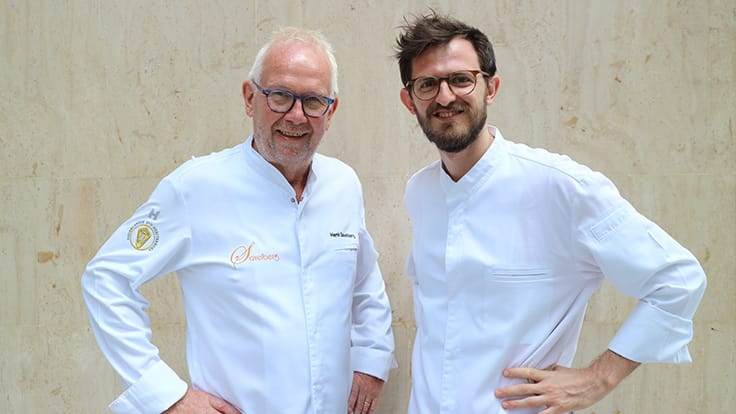 First collaboration between Henk Savelberg (left) and Amerigo Sesti (right). Photo credit: Tina Hsiao.