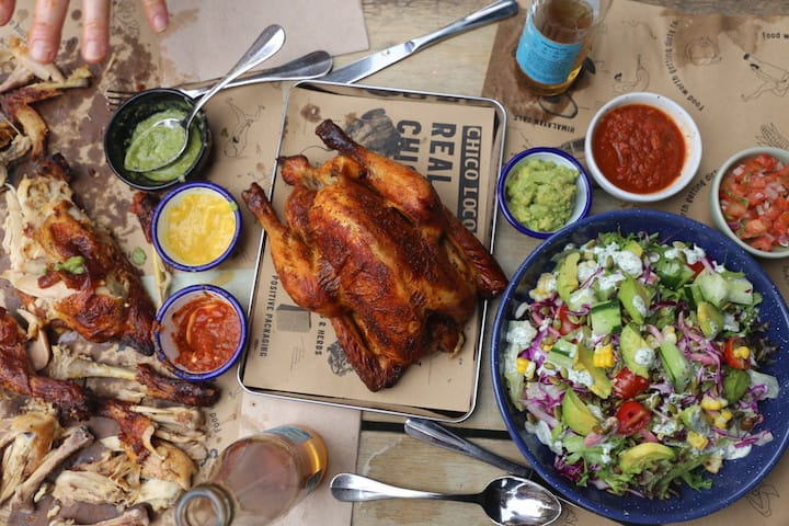 The star of Chico Loco's menu is its rotisserie-style chicken with Mexican flavours. (Photo: Chico Loco)
