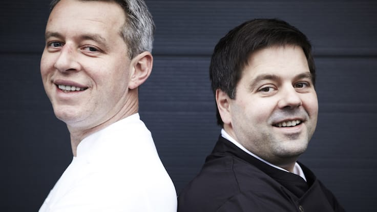 Chocolate maker Jan Verleye (right) teams up with Bart Desmidt from two-MICHELIN-starred restaurant Bartholomeus (Pic: BbyB)
