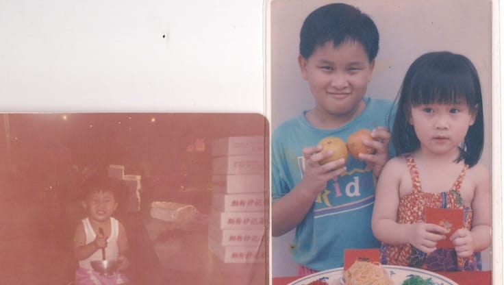 Left: Paul Liew as a child; Right: Wayne and Geraldine Liew (Pic: Paul Liew)