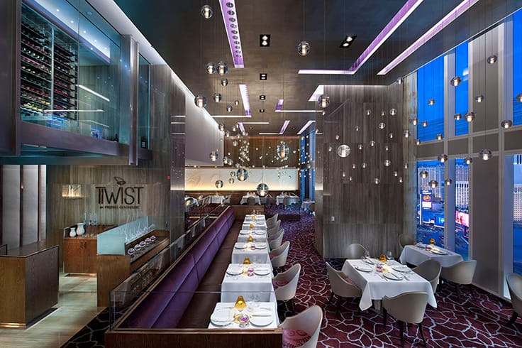 The interior of Twist at the Waldorf Astoria Las Vegas. (Photo courtesy of Waldorf Astoria Las Vegas.)