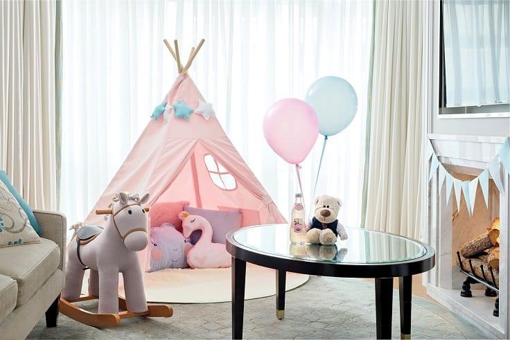 朗廷酒店特設喜慶房間布置,給孩子一個生日驚喜。(圖片:朗廷酒店面書)