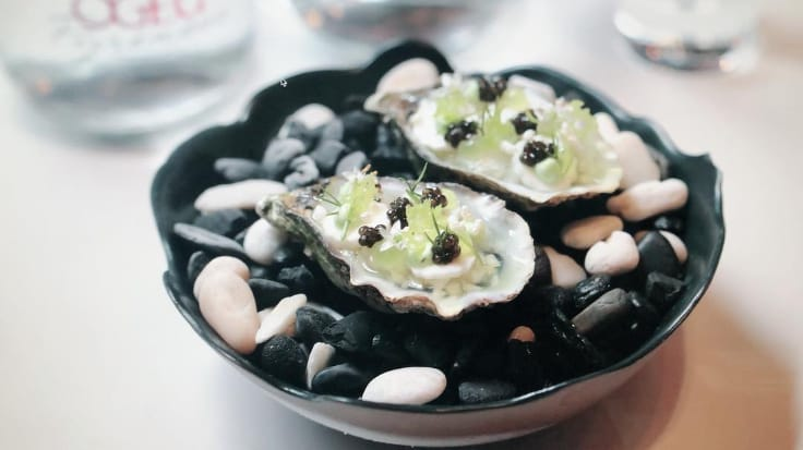Try the David Herve oyster at The Reflexions (MICHELIN Plate). Photo courtesy of The Reflexions.