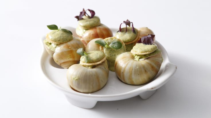 Escargots at Philippe. Photo courtesy of Philippe Restaurant.