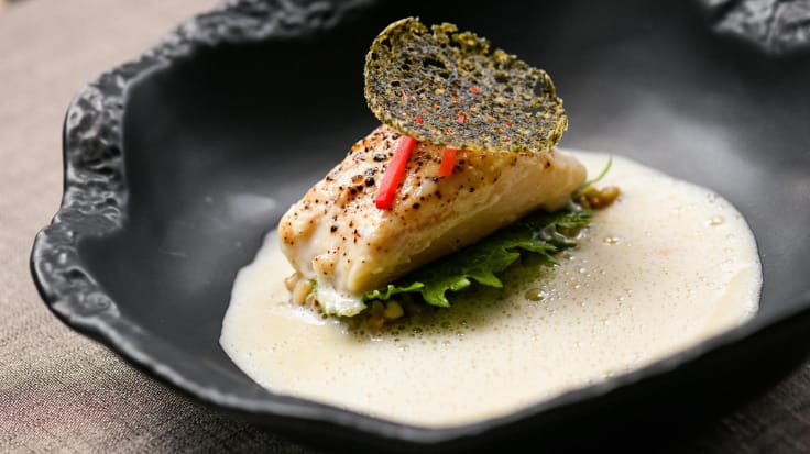 The modern cuisine at Elements creatively fuses the best of French and Japanese dishes. Photo courtesy of Elements.