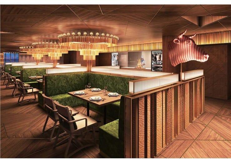 37 Steakhouse & Bar 裝潢走現代風格,由國際級設計師森田恭通設計。(圖片:37 Steakhouse & Bar)