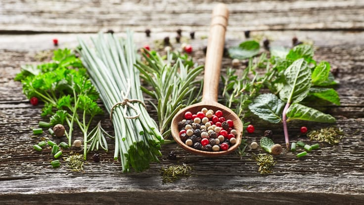 A blend of two or three herbs is usually enough to add flavour (Pic: Shutterstock)