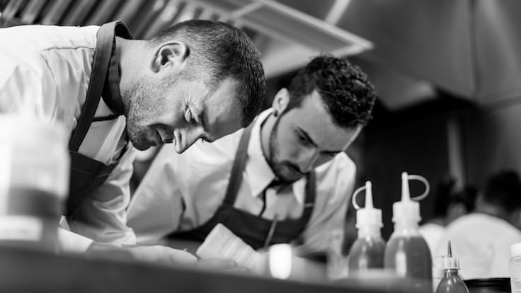 De Vito (left) with Braci head chef Mirko Febbrile (Pic: Braci)