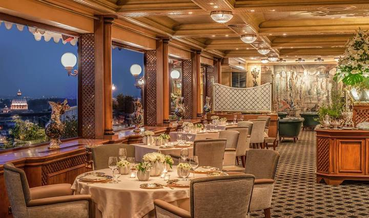 Fiorani loves the three-MICHELIN-starred La Pergola for its elegant decor and impeccable service. (Photo courtesy of La Pergola/Facebook.)