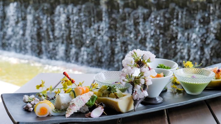 The chef draws from the beauty of nature for his kaiseki dishes (Pic: MICHELIN Guide Digital)