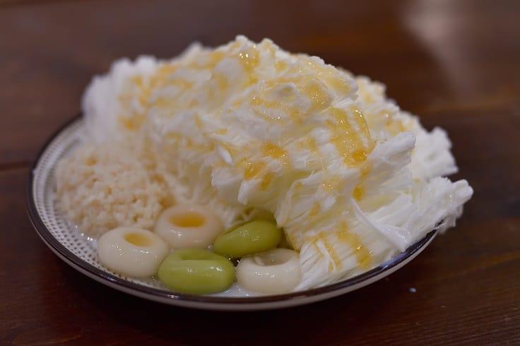 「心地日常」的桂花蜜酒釀白玉雪花冰。(照片:鄔智明)
