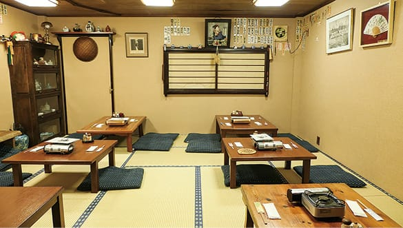 The rustic interior of Bib Gourmand restaurant Motsushige (Pic: MICHELIN Guide Digital)